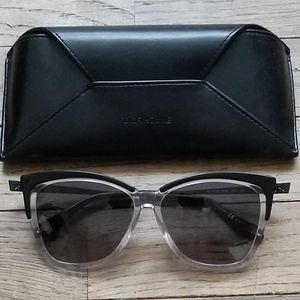 NEW!! GIVENCHY Clear Black Gray Cat Eye Sunglasses